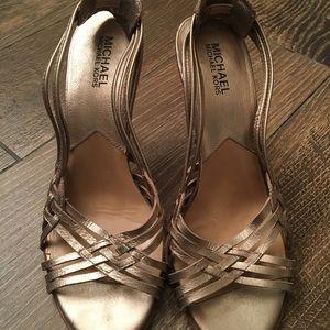 MICHAEL Michael Kors - Gold Sandal Heels - size 8